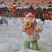 Подарки к праздникам ручной работы. Ярмарка Мастеров - ручная работа Ватная елочная игрушка  ТАРАСИК на ярмарке. Handmade.