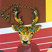 Колье ручной работы. Ярмарка Мастеров - ручная работа Лесной олень. Handmade.