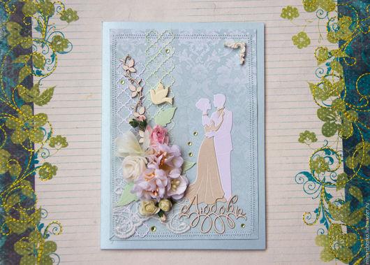 Свадебные открытки ручной работы. Ярмарка Мастеров - ручная работа. Купить свадебные открытки. Handmade. Комбинированный, бумажные цветы