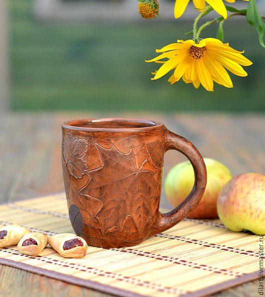Кружки и чашки ручной работы. Ярмарка Мастеров - ручная работа. Купить Большая кружка для чая. Handmade. Молочный обжиг