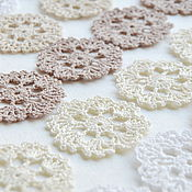Материалы для творчества handmade. Livemaster - original item Knitted openwork chips 5cm. Handmade.