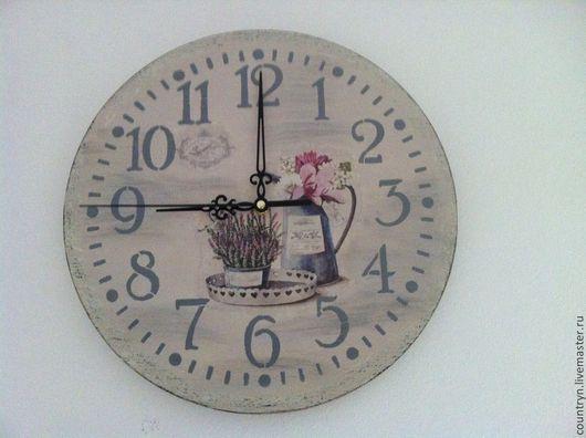 """Часы для дома ручной работы. Ярмарка Мастеров - ручная работа. Купить Часы """"Утро в Провансе"""". Handmade. Прованский стиль"""