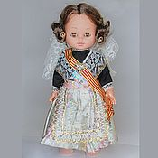 Винтаж handmade. Livemaster - original item Doll in national costume interior. Handmade.