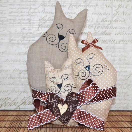 Подарки на свадьбу ручной работы. Ярмарка Мастеров - ручная работа. Купить Кофейная семья. Handmade. Бежевый, коты и кошки