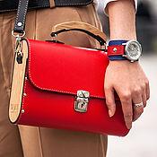 Сумки и аксессуары handmade. Livemaster - original item Urban women bag Big Red leather. Handmade.