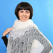 Аксессуары handmade. Livemaster - original item Shawls: 34 down shawl gossamer Orenburg shawl. Handmade.