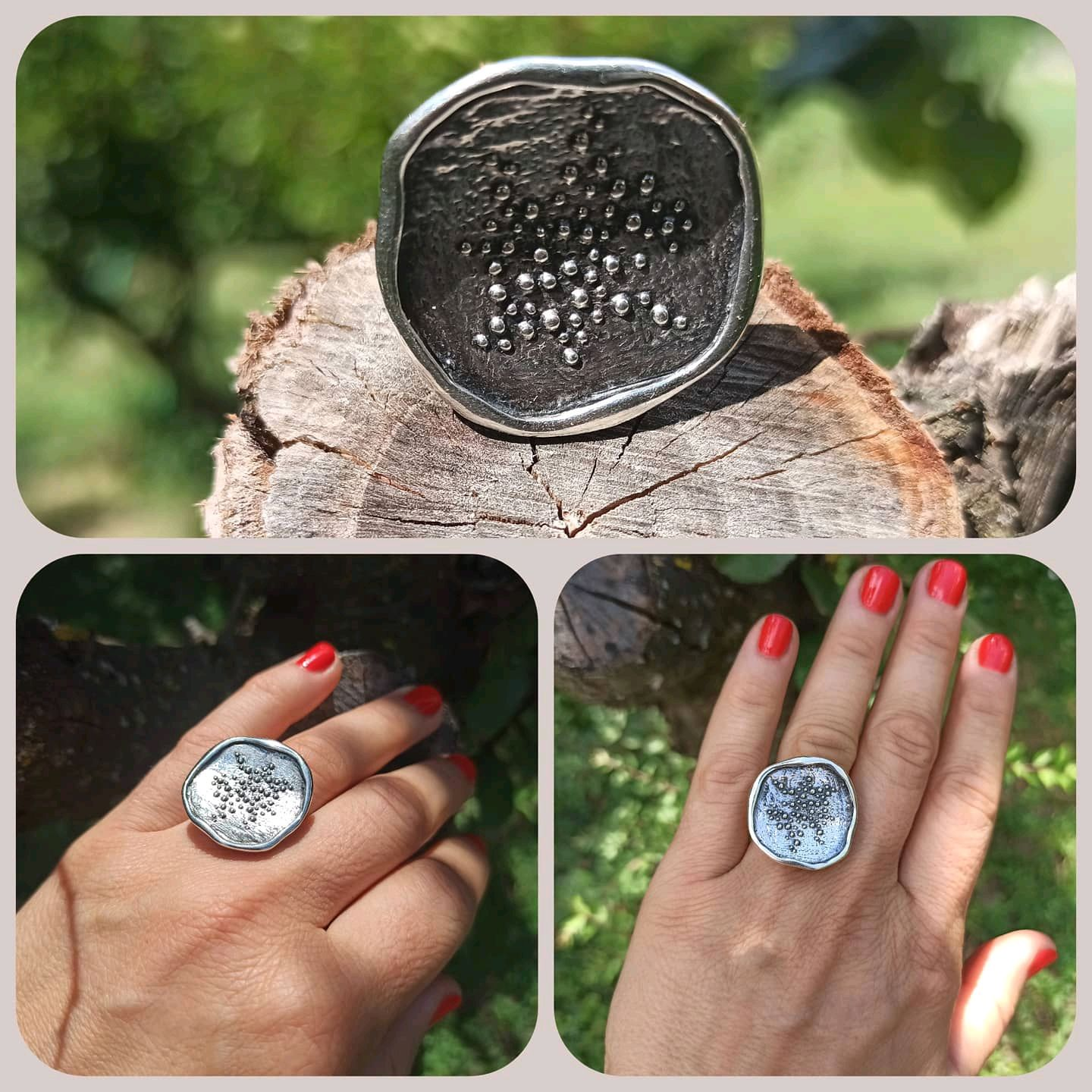 Very beautiful ring Pond. A very unusual and large ring. Silver, Rings, Turin,  Фото №1