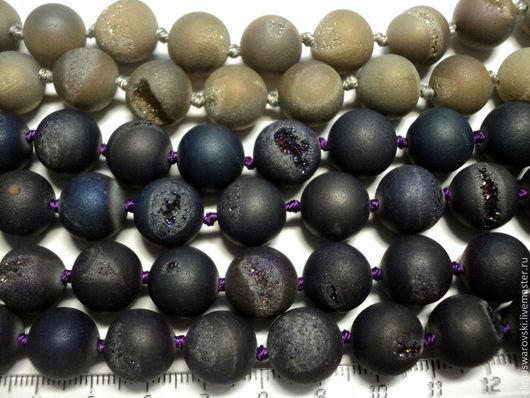 Агат 2 цвета 12 мм по цене 30 руб. за шт. Бусины агата с включениями пирита.