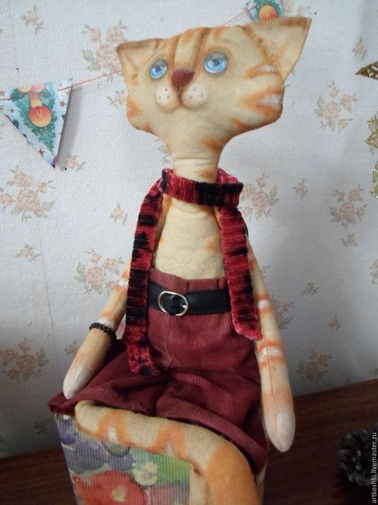 Игрушки животные, ручной работы. Ярмарка Мастеров - ручная работа. Купить Голубоглазый кот. Интерьерная игрушка. Handmade. Рыжий