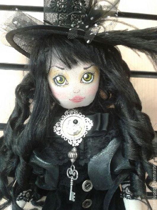 Коллекционные куклы ручной работы. Ярмарка Мастеров - ручная работа. Купить Кукла в Викторианском стиле. Handmade. Черный, кукла текстильная