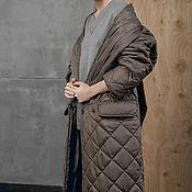 Одежда handmade. Livemaster - original item Women`s insulated coat DarkOlive. Handmade.