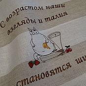 Полотенца ручной работы. Ярмарка Мастеров - ручная работа Полотенце льняное с вышивкой Банные приколы. Handmade.
