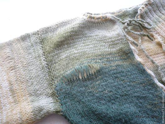 Кофты и свитера ручной работы. Ярмарка Мастеров - ручная работа. Купить Болеро вязаное.. Handmade. Зеленый, болеро спицами, резинка