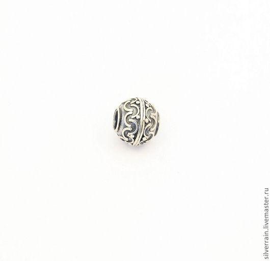 Для украшений ручной работы. Ярмарка Мастеров - ручная работа. Купить Бусина круглая серебро 925 стиль пандора. Handmade.