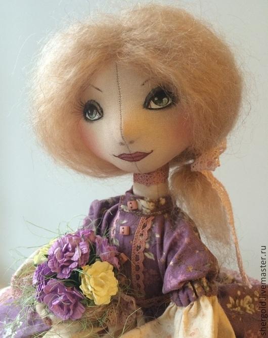 Коллекционные куклы ручной работы. Ярмарка Мастеров - ручная работа. Купить Рита. Интерьерная текстильная кукла.. Handmade. Сиреневый, холофайбер