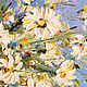 Oil painting of Daisies in a clear vase with White flowers. Pictures. Zabaikalie. My Livemaster. Фото №6