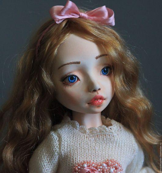 Коллекционные куклы ручной работы. Ярмарка Мастеров - ручная работа. Купить Шарнирная кукла Лили. Handmade. Белый, кожа натуральная