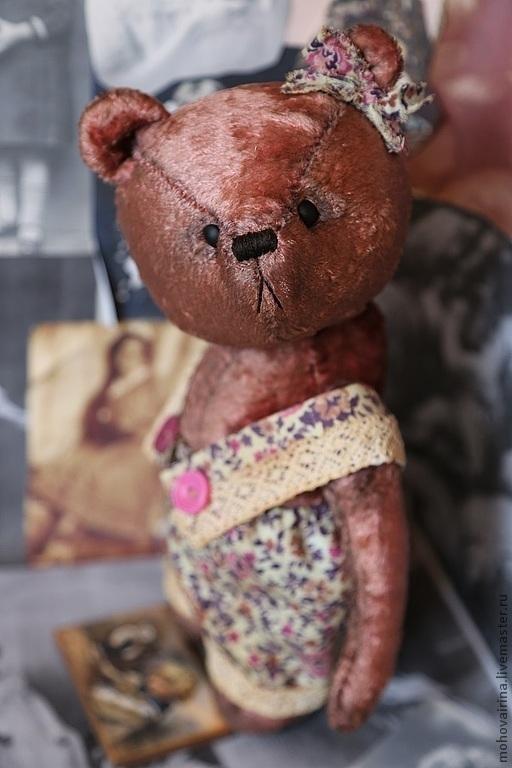 Мишки Тедди ручной работы. Ярмарка Мастеров - ручная работа. Купить Леся. Handmade. Бордовый, мишка тедди, металлический гранулят