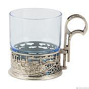 Для дома и интерьера handmade. Livemaster - original item The holder of Nickel silver with a glass. Handmade.