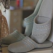 """Обувь ручной работы. Ярмарка Мастеров - ручная работа """"Снежная Королева"""" тапочки валяные шлепанцы. Handmade."""