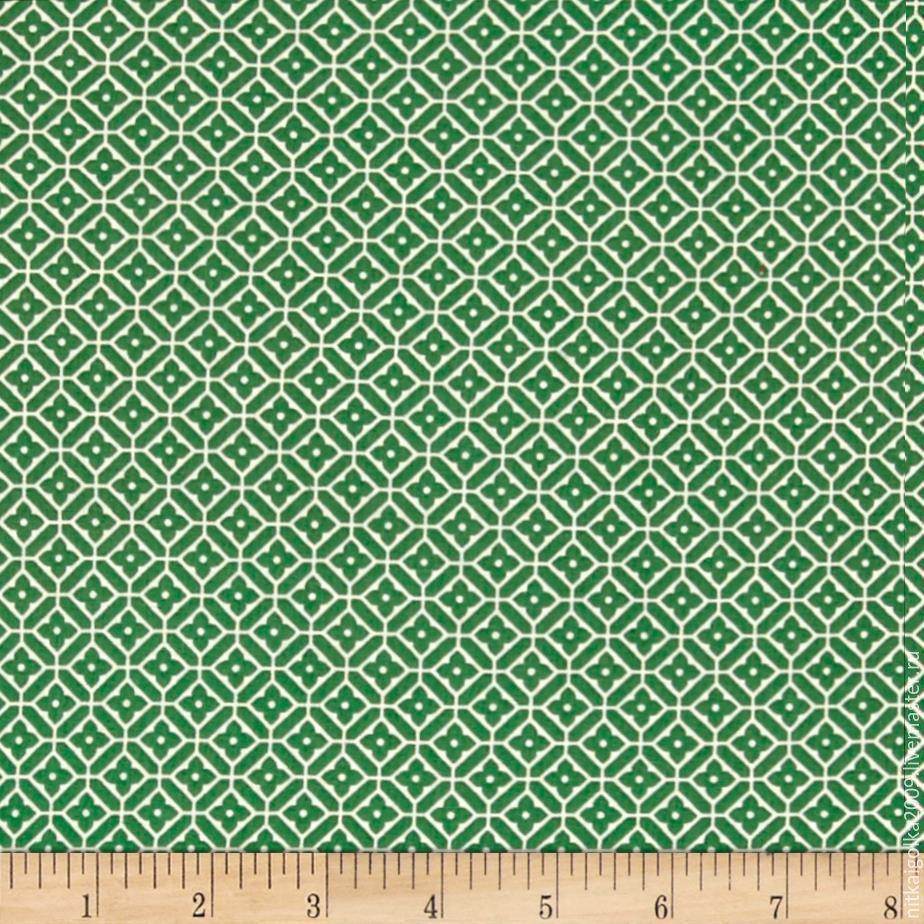 Ткань для пэчворка Quartette Tile Green/White (метраж), Ткани, Липецк,  Фото №1