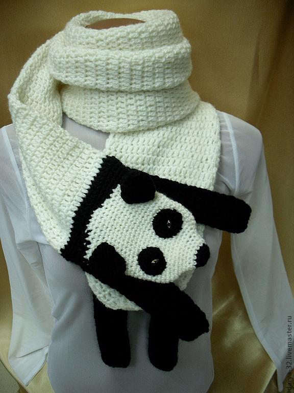 Шарф, заказать, шарф-панда