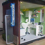"""Модели ручной работы. Ярмарка Мастеров - ручная работа Румбокс, миниатюра """"Стоматологический кабинет"""". Handmade."""