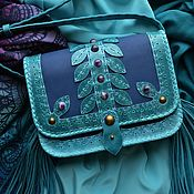 "Сумки и аксессуары handmade. Livemaster - original item Leather bag ""SEA BREEZE"". Handmade."