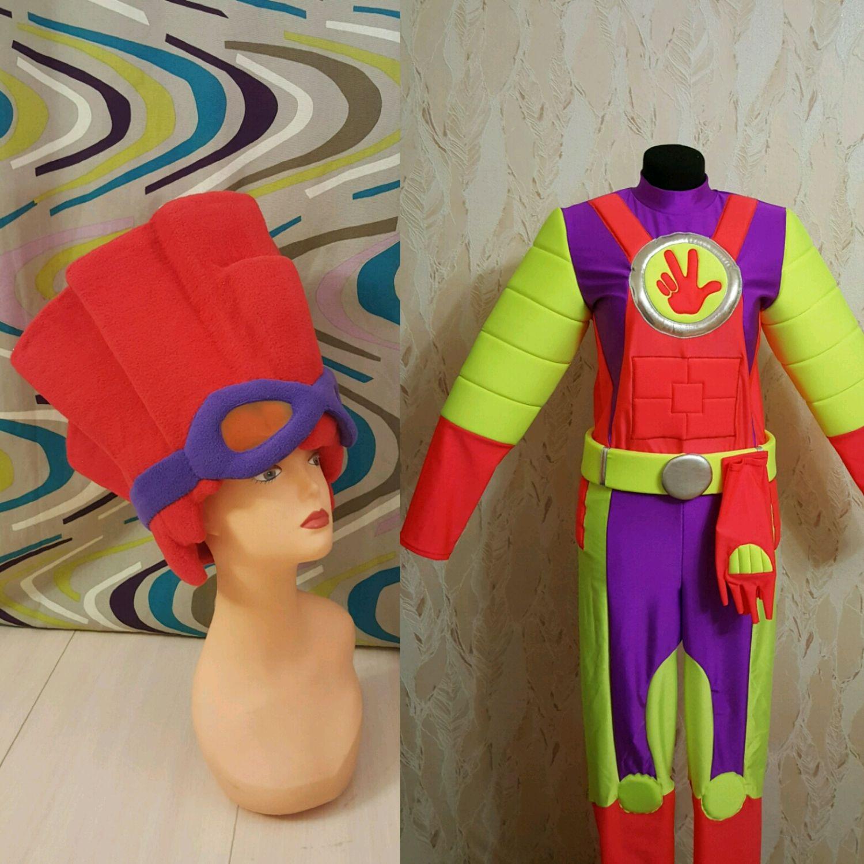 Карнавальные костюмы ручной работы. Ярмарка Мастеров - ручная работа. Купить Фиксики Шпуля и Файер. Handmade. Комбинированный, трикотаж