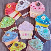 Куклы и игрушки ручной работы. Ярмарка Мастеров - ручная работа Пирожные из фетра. Handmade.