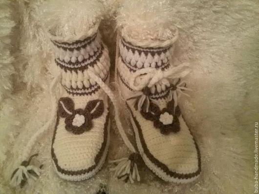 Обувь ручной работы. Ярмарка Мастеров - ручная работа. Купить Вязаные сапожки крючком. Handmade. Вязание крючком, вязание
