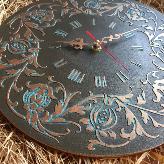 "Часы для дома ручной работы. Ярмарка Мастеров - ручная работа. Купить Часы настенные ""Старая бронза"". Handmade. Часы настенные"