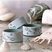 """Для дома и интерьера ручной работы. Ярмарка Мастеров - ручная работа Кольца для салфеток """"Ракушки"""". Handmade."""