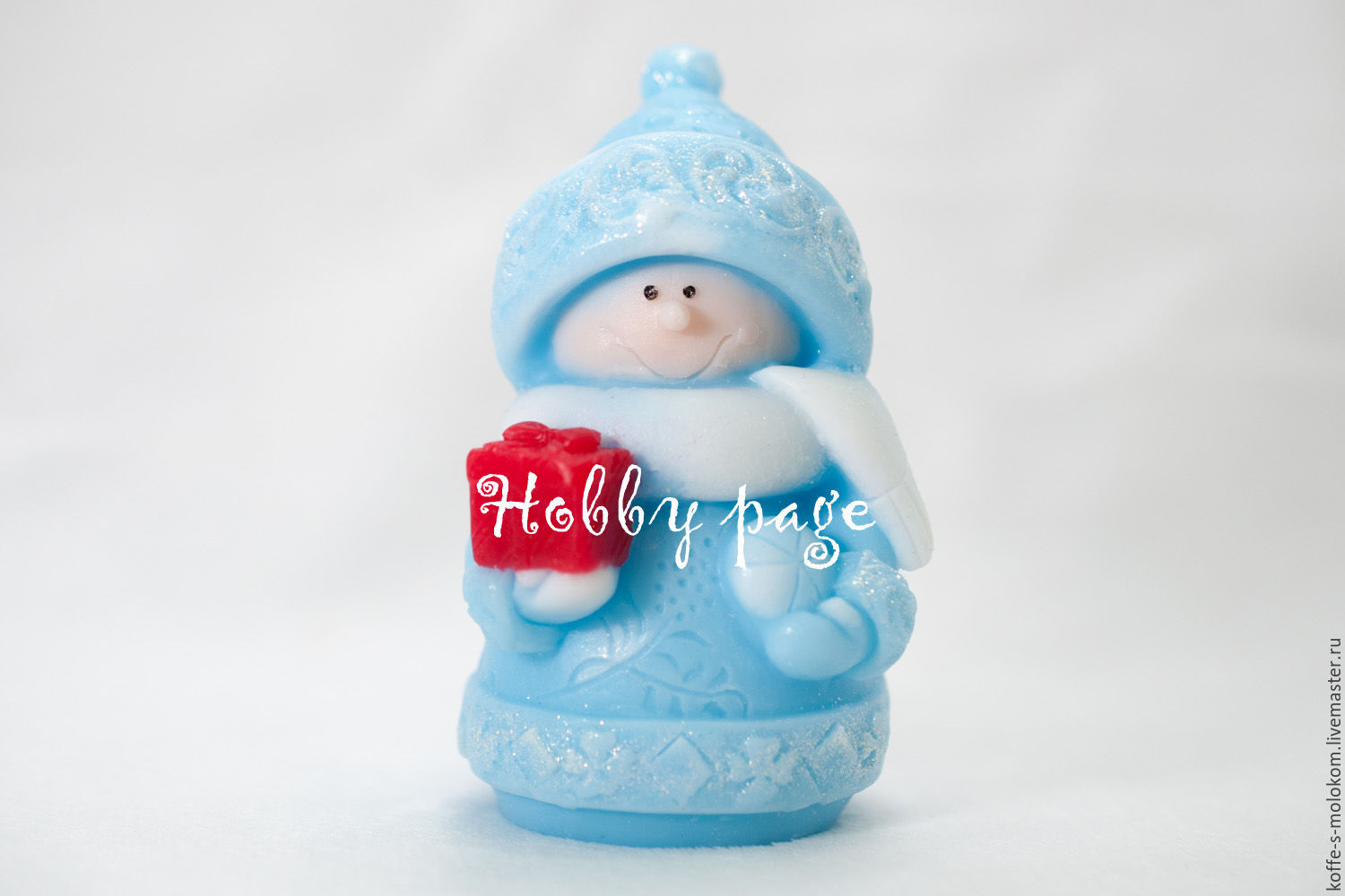 Silicone molds for soap Snowman with a gift, Form, Moscow,  Фото №1