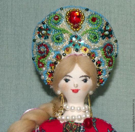 Человечки ручной работы. Ярмарка Мастеров - ручная работа. Купить кукла Ладушка - Яринка. Handmade. Ярко-красный, народный костюм
