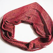 Аксессуары handmade. Livemaster - original item Kerchief summer knitted red-maroon kerchief cotton. Handmade.