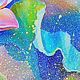 """Картины цветов ручной работы. Картина с лотосом """"Рождение из Света"""" масло холст. ЯРКИЕ КАРТИНЫ Наталии Ширяевой. Ярмарка Мастеров."""
