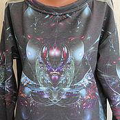 Одежда ручной работы. Ярмарка Мастеров - ручная работа джемпер Самоцветы, женский свитшот, свитшот с принтом,свитшот. Handmade.