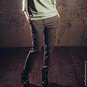 Одежда ручной работы. Ярмарка Мастеров - ручная работа Твидовые брюки слаксы 2. Handmade.