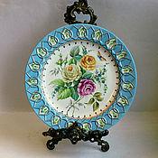 handmade. Livemaster - original item The painted porcelain.Plate