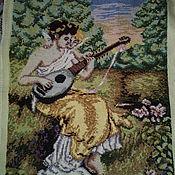 Картины и панно ручной работы. Ярмарка Мастеров - ручная работа вышивка крестом Ангельский дуэт. Handmade.