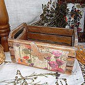Для дома и интерьера ручной работы. Ярмарка Мастеров - ручная работа Короб, ящик для кухни Прошлым летом в деревне. Декупаж. Handmade.