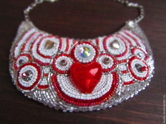 """Колье, бусы ручной работы. Ярмарка Мастеров - ручная работа. Купить Колье """"День Святого Валентина каждый день"""". Handmade."""