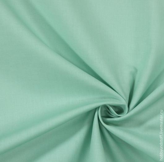 Шитье ручной работы. Ярмарка Мастеров - ручная работа. Купить Немецкий хлопок пастельно-зеленый. Handmade. Зеленый, пастельно-зелёный