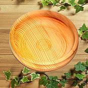 Plates handmade. Livemaster - original item Cedar plate 16#8. Handmade.