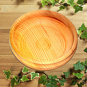 Тарелки ручной работы. Ярмарка Мастеров - ручная работа Кедровая тарелочка 16см блюдце из сибирского кедра - ручная работа #T8. Handmade.