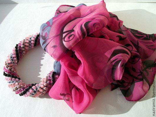 """Шарфы и шарфики ручной работы. Ярмарка Мастеров - ручная работа. Купить """"Радуга"""". Handmade. Разноцветный, шарф женский, подарок, шарфик"""