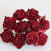 Материалы для творчества ручной работы. Ярмарка Мастеров - ручная работа Розы 2 см 5 шт красные. Handmade.