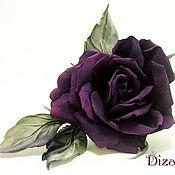 Цветы и флористика handmade. Livemaster - original item Barrette Nomi rose.Flowers made of silk,fabric flowers.. Handmade.