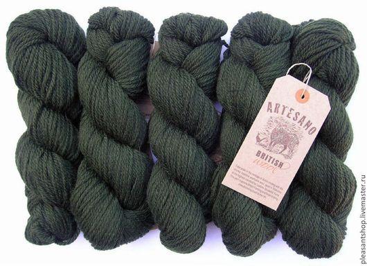 Вязание ручной работы. Ярмарка Мастеров - ручная работа. Купить Artesano British Wool Forest. Handmade. Хаки, английский стиль